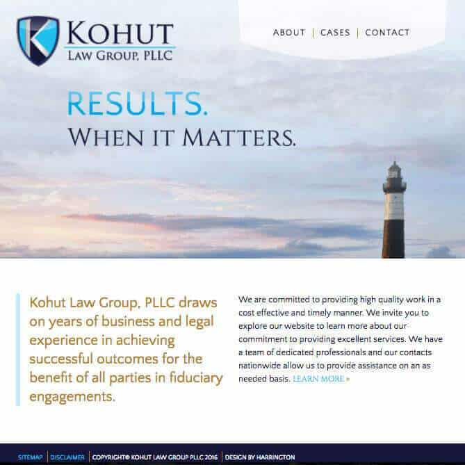 Kohut Law Group Website