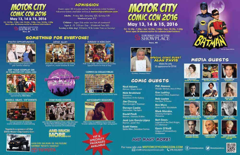 Motor City Comic Con Flyer
