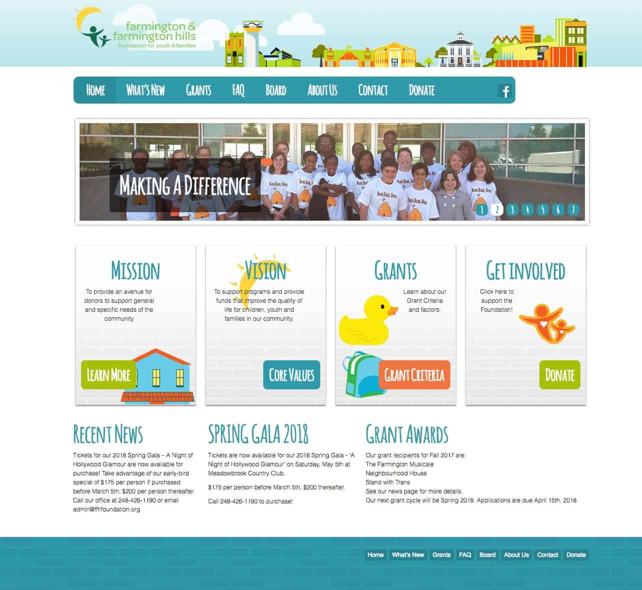FFH foundation nonprofit responsive website design