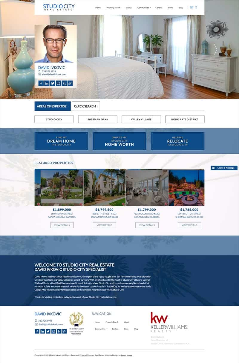 Studio City Real Estate - Real Estate Website using IDX