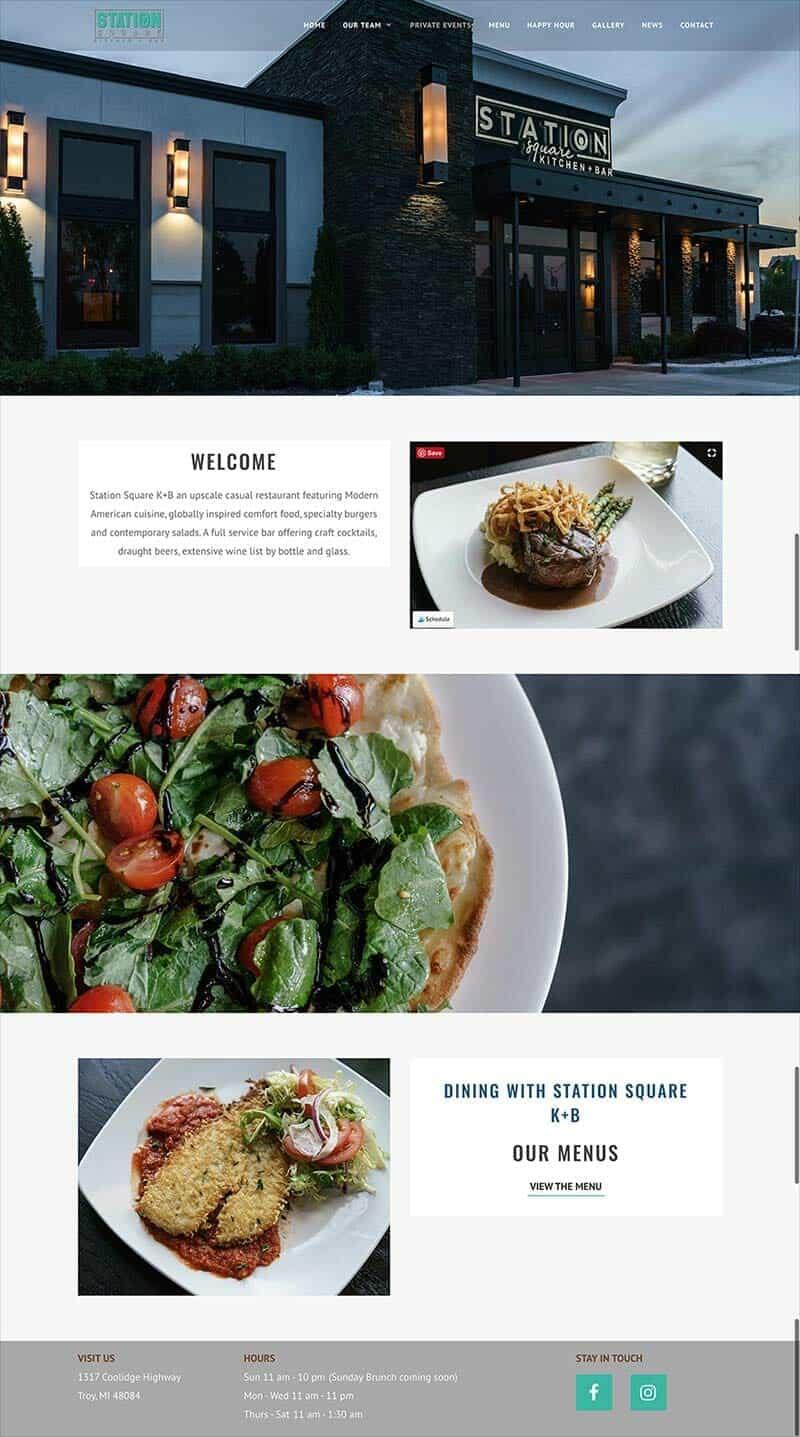 Station Square Kitchen Bar restaurant website