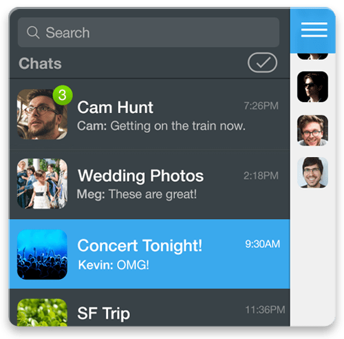 GroupMe group messaging on iOS