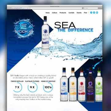 Sea Vodka responsive WordPress Website