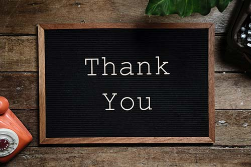 thank your clients
