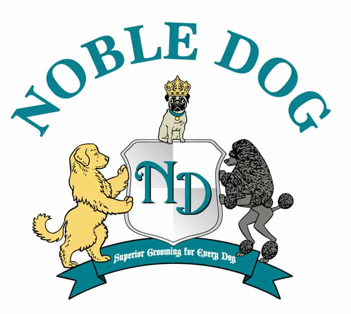 Noble Dog Shoppe and Spa logo design
